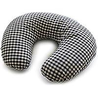 hugmamu はぐまむ 日本製 洗える 授乳クッション (ラージチェック ブラック) AU-189-09-CL