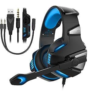 Zapoo PC ヘッドセット ヘッドフォン PUBG ゲーム用 ヘッドホン マイク付きPC スマホ ps4 xbox one s用 高音質 臨場感 3Dステレオ ゲーミングヘッドセット (Black2)