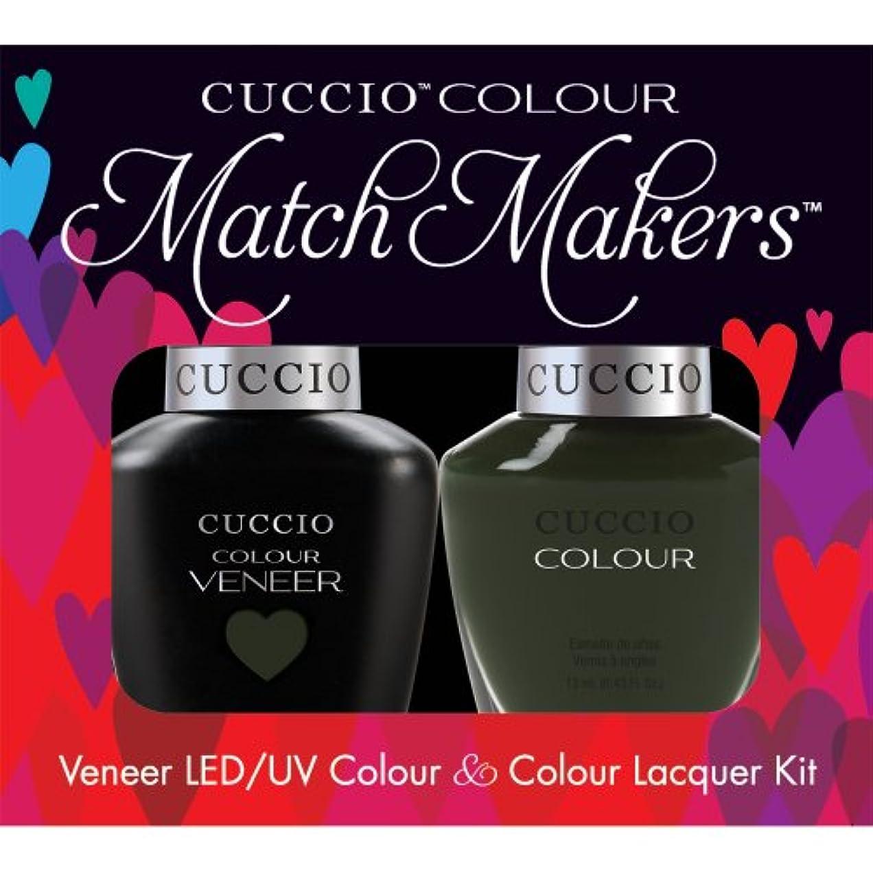 シャッターうめき方向Cuccio MatchMakers Veneer & Lacquer - Glasgow Nights - 0.43oz/13ml Each