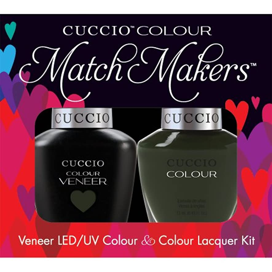 バースト処方イタリックCuccio MatchMakers Veneer & Lacquer - Glasgow Nights - 0.43oz/13ml Each