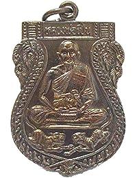 仏教ジュエリーAmulets Lp Pernタイ式Amulet Life保護Buddhaペンダント