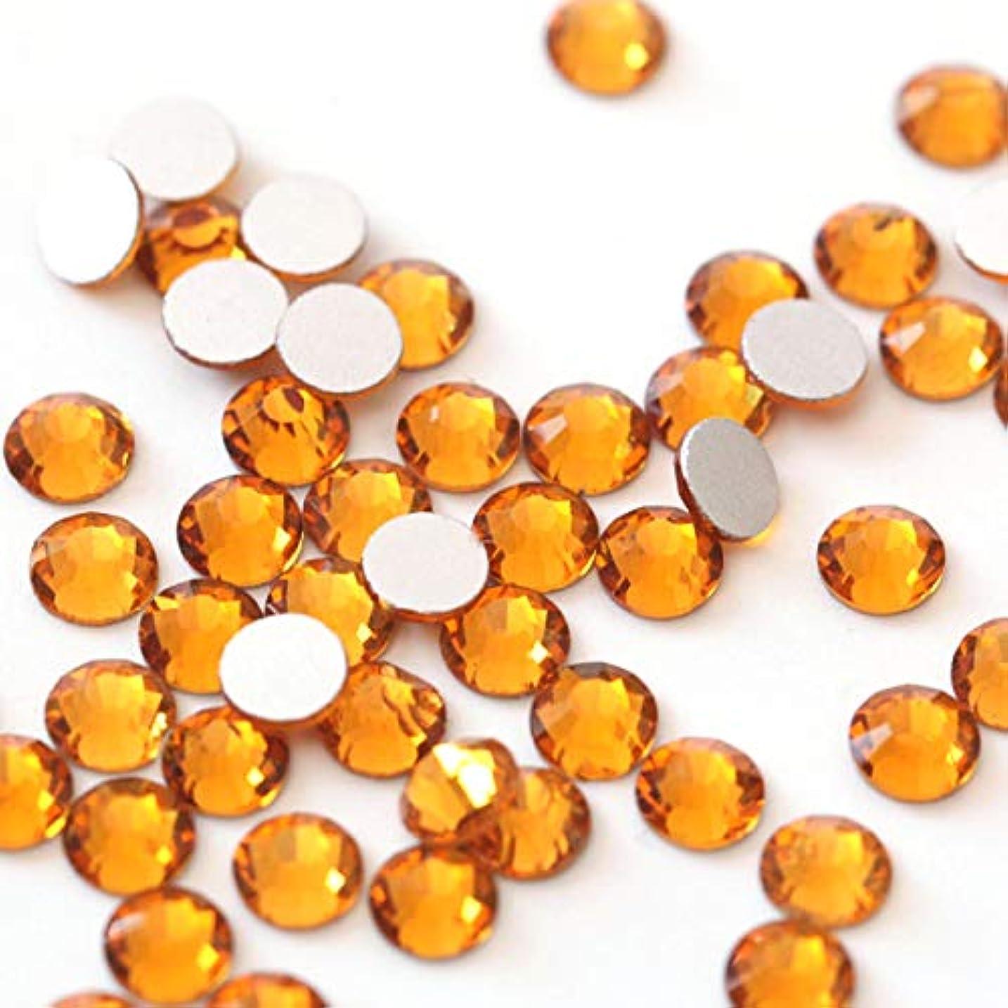 有益な裕福な便益【ラインストーン77】 超高級 ガラス製ラインストーン SS4~SS40 トパーズ スワロフスキー同等(3.0mm (SS12) 約200粒)