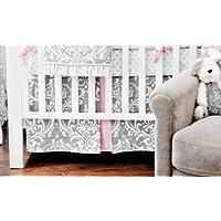 New Arrivals Stella Gray 2 Piece Crib Bedding Set, Grey by New Arrivals