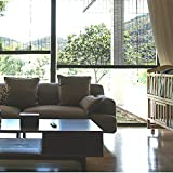 すだれ Blak Exterior&Indoor Balconies Bamboo Blinds、Blackout Roller Shade Privacy Blinds With Hooks、85cm / 105cm / 125cm / 145cm Wide (Size : W 125×H 160cm)