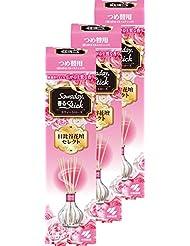 【まとめ買い】サワデー香るスティック日比谷花壇セレクト 消臭芳香剤 詰め替え用 スウィートローズ 70ml×3個