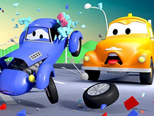 キットカーのケイティ2&可愛いスージーそして, レッカー車のトム, (子供向け)車&トラックの 建設アニメ