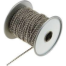 Lucky Line Nickel Plated Steel Ball Chain Spool, 100-Feet (31700)