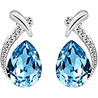 T400 Jewelers Fashion Earrings for Women Waterdrop Shape Made with Swarovski Crystals Birthday Gift for Her