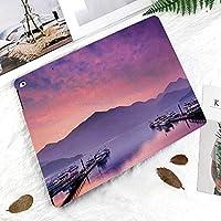 IPadケース スマートカバー アイパッドケース タブレットカバー アイパッド第四世代 第三世代 日月潭南投台湾ロマンチックな夕景飾る自然写真