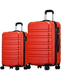 (ラッキーパンダ) luckypanda【1年間修理保証】TY8098 大型+小型 2点セット スーツケース 軽量 TSAロック ファスナー キャリーケース キャリーバッグ 機内持込