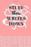 Stuff Thea Writes Down: Personalized Journal / Notebook (6 x 9 inch) with 110 wide ruled pages inside [Soft Coral]