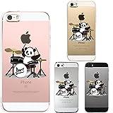 iPhone SE iPhone5S/5 対応 ハード クリア ケース 保護フィルム付 ドラム パンダ
