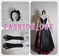 サイズ選択可女性XSサイズ QC063 アクセル・ワールド Accel Worl 黒雪姫(クロユキヒメ) ブラック・ロータス コスプレ衣装
