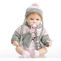 SanyDoll Rebornベビー人形ソフトSilicone 18インチ45 cm磁気Lovely Lifelikeキュートかわいいベビー誕生日プレゼント