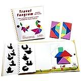 Best 友達ブック大人のための - Tangram Travel Games 360磁気パズルと質問構築動物人オブジェクトwith 7シンプルな磁気カラフル図形Kid Adult Challenge IQタングラムの教育ブック【2セット】 Review