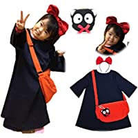 4712439b3c939 魔女っ娘ワンピ キキ 風 コスプレ 子供 Kids 衣装 4点 セット ( ワンピース カチューシャ
