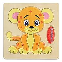 Fashionwu 木製パズル 組み合わせ 図形モザイク はめこみ 知恵おもちゃ 子供 プレゼント