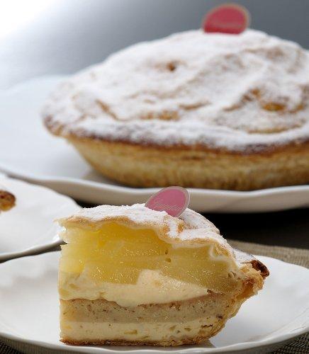 雪下りんごぱい 3層のチーズケーキとしゃきしゃきの青森りんごで新感覚 アップルパイ 6-8人OK シナモン不使用