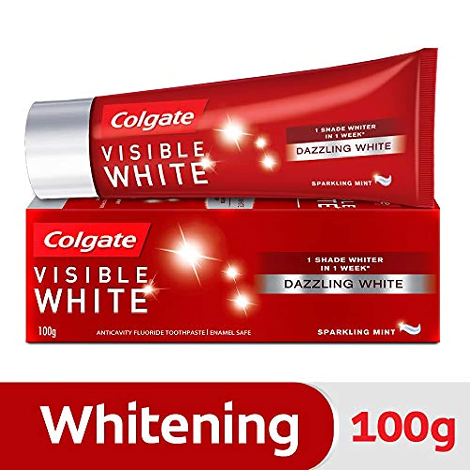 休憩金貸し事業Colgate Visible White Dazzling White Toothpaste, Sparkling Mint - 100gm