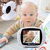 Izumin ベビーモニター 防犯カメラ 双方向音声 暗夜用  赤ちゃん 出産祝い  ベッド見守り 年寄り介護  子守唄機能 マイク・スピーカー内蔵 遠隔監視カメラ 大画面 充電式