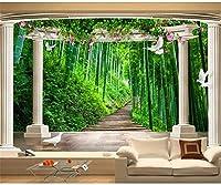 Weaeo カスタム写真の3D壁紙ヨーロッパの竹の森のバラ園の宇宙の壁壁壁3Dの壁の壁の壁紙-280X200Cm