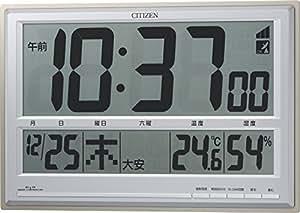 CITIZEN (シチズン) 電波置き・掛け時計 パルデジットペール 大型表示 8RZ111-019