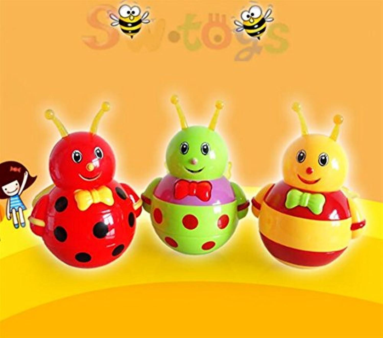 Keaner新生児幼児Roly - Poly玩具多機能漫画Little Beeタンブラー音楽サウンドおもちゃ教育玩具(ランダムカラー)
