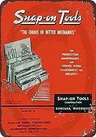 S-RONG雑貨屋素敵なティンサインアルミレトロ1958スナップオンツールカタログビンテージメタルサイン8 x 12インチ
