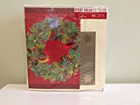 Seasons BoxedホリデーカードIncludes seals- Cardinals in Fruitful Wreath、40カード/40封筒