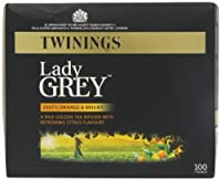 Twinings Lady Grey 100's (Pack of 4, Total 400 Tea Bags)