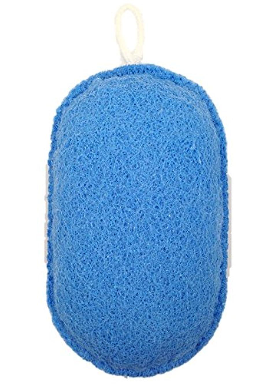 幻滅する休憩する助手オーエ ボディスポンジ ブルー 約縦14.5×横9.5×奥行5cm nf ヘチマボール 体洗い 泡立ち