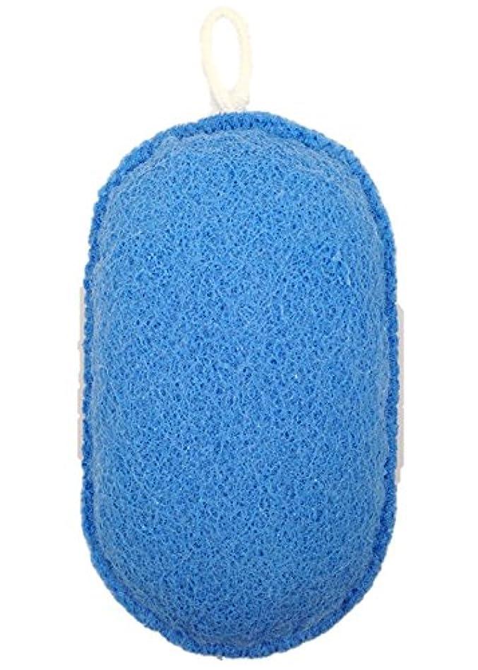 確認してくださいシャンパンはねかけるオーエ ボディスポンジ ブルー 約縦14.5×横9.5×奥行5cm nf ヘチマボール 体洗い 泡立ち