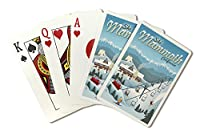 Mammoth, California - Retro Ski Resort (Playing Card Deck - 52 Card Poker Size with Jokers)