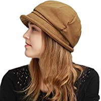 BLACK HORN Womens Newsboy Cabbie Beret Cap Cloche Bucket Fashion Sun Hats