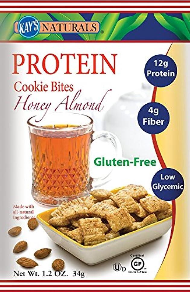 予約移動する展望台Kay's Naturals Protein Cookie Bites, Honey Almond Filled, 1.2 ounces (Pack of 6) by Kay's Naturals [並行輸入品]