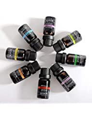 Lioncorek エッセンシャルオイル オイル アロマオイル 精油 水溶性 ナチュラル フレグランス 100%純粋 有機植物 加湿器用 8種の香りセット