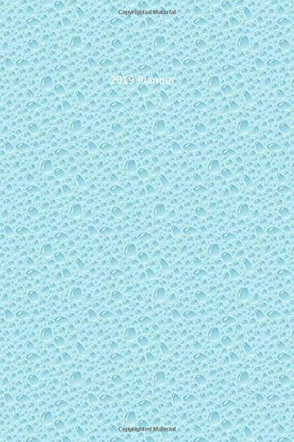 2019 Planner: Water Drops Blue Cover - 6 x 9 Daily | Weekly | Monthly | Annual Organizer Scheduler with Contacts & Passwords & Birthdays (2019 weekly planner organizer diary journal)