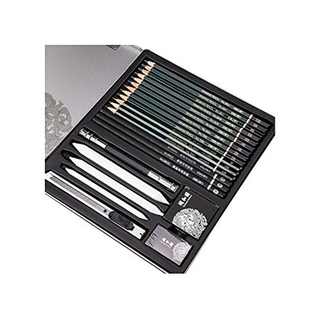トリプルラウンジ独裁Hongyunshanghang001 ペイントブラシ、鉄箱入りプロスケッチペンシル22ピーススーツ、生徒はプレーンスペシャルブラシ(16ピース、21 * 23 cm)のペイントを練習します。 絶妙な技量 (Color : 16 pieces, Size : 21*23cm)
