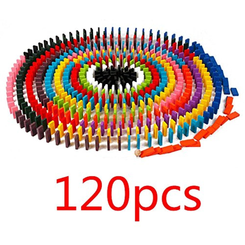 ドミノ倒し 積み木 知育玩具 天然木製 120個 おもちゃ カラフル こども 誕生日 Broadroot