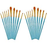 Artecho Miniature Paint Brushes Set, Detail Art Brushes for All Levels and Purpose Watercolor Oil Acrylic Gouache Painting, P