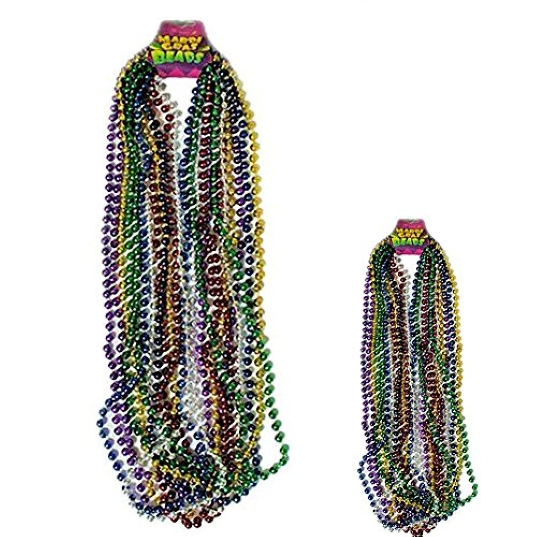 [ロードアイランドノベルティー]Rhode Island Novelty Assorted Color Mardi Gras Throw Beads : package of 24 4155586 [並行輸入品]