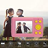 DishyKooker 2.4 Inch HD Screen Kid Digital Camera 16MP Anti-Shake Face Detection Camcorder Pink for Match Electronics