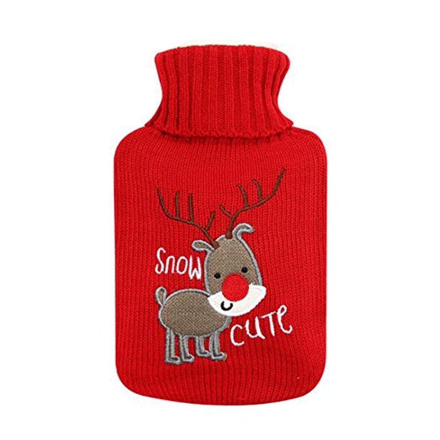 人に関する限り旧正月楕円形可愛い鹿のゴム製ホットウォーターボトル - 500ML