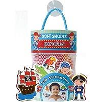 Innovative Kids Soft Shapes Illustration Tub Stickables Pirates Playset [並行輸入品]