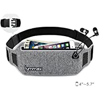 Waist Bag, Water Resistant Waist Pack with 4 Pockets for Man Women Waterproof Outdoors Running Climbing Carrying Bag- Grey …