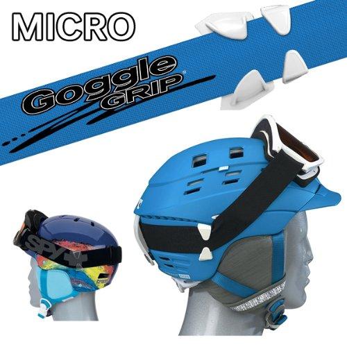 GOGGLE GRIP《MICRO》ヘルメット着用時のゴーグルのズレを防ぐ!!ゴーグルグリップ スキー スノーボード ゴーグル ヘルメット (CLEAR)