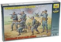 Zvezda Models 1942-1944 German Infantry Platoon Kit [並行輸入品]