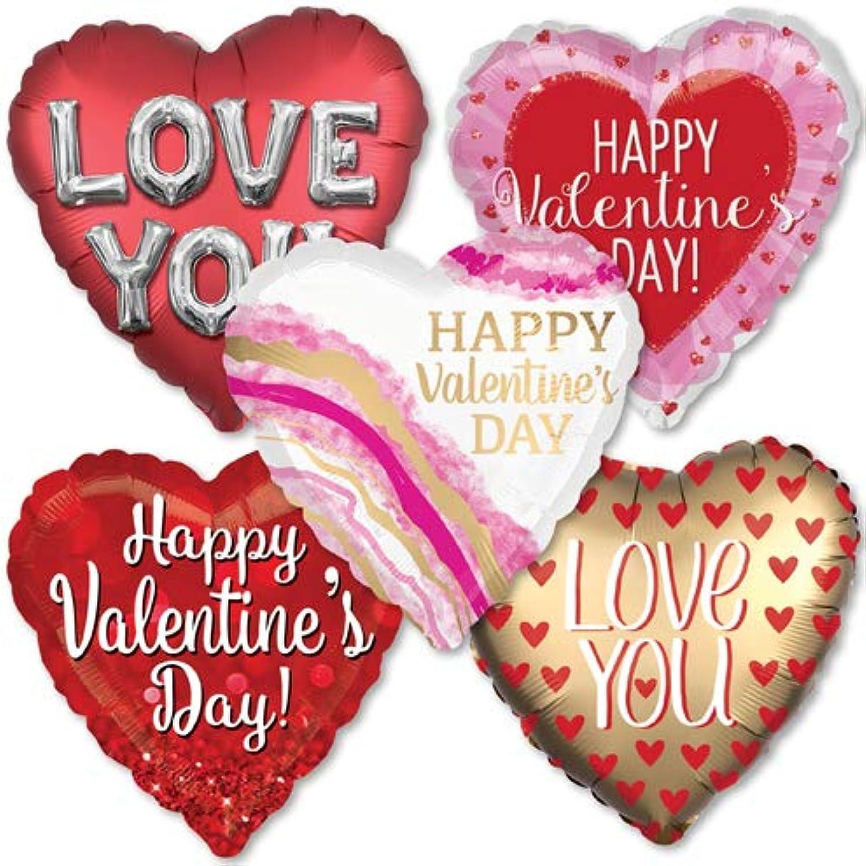 LoonBalloonHelium Saver ジャンボ ヴァレンタイン&ラブバルーンパック 10パック バレンタインデー装飾 ギフトとバルーン