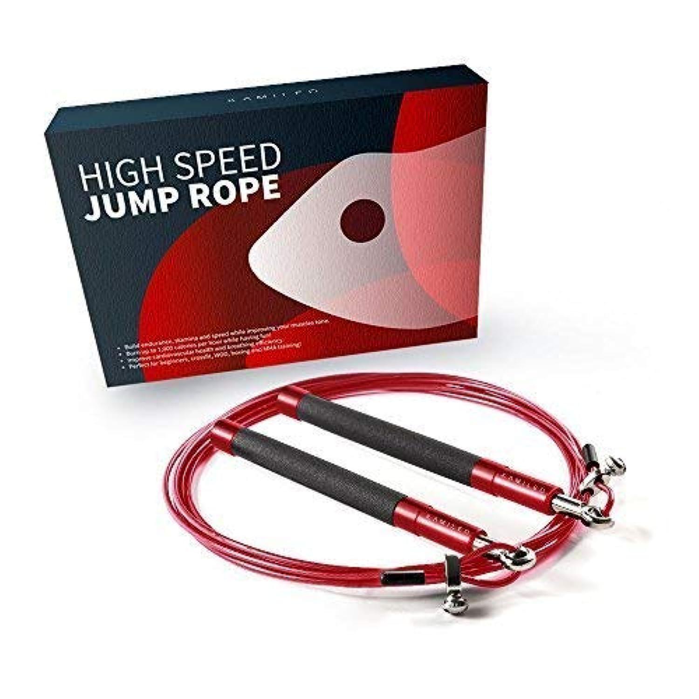 kamileoジャンプロープ、調節可能なスピードジャンプロープボクシング総合格闘技フィットネスのクロスフィットワークアウト、アルミ滑り止めハンドル(with eBook、ポスター、冷却タオルCarryバッグ、ケーブルプロテクター)