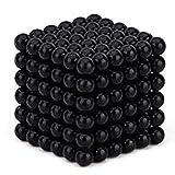 Cozyrom マジック磁石 マグネットボール 216個セット﹙3mm﹚ネオジム磁石の立体パズル ストレス解消 頭脳ゲーム 磁力ボール 教育工具 DIY工具 (ダーク ブラック)
